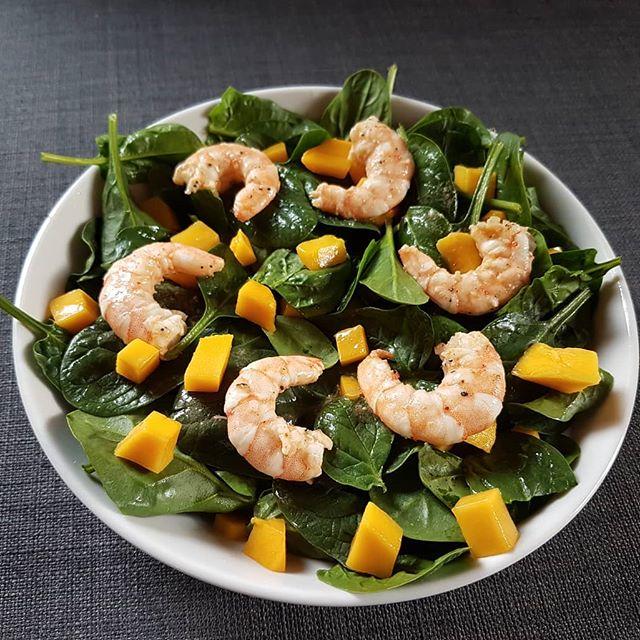 Recette diététique crevette mangue