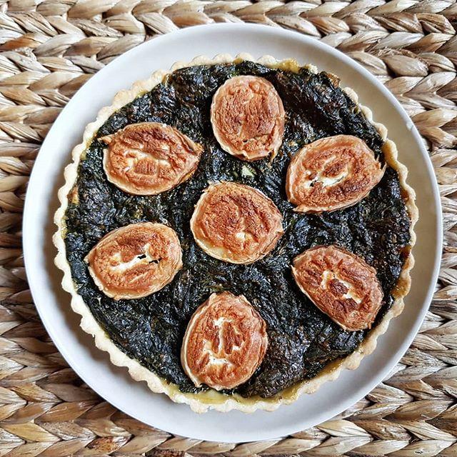 Recette diététique tarte épinard chévre