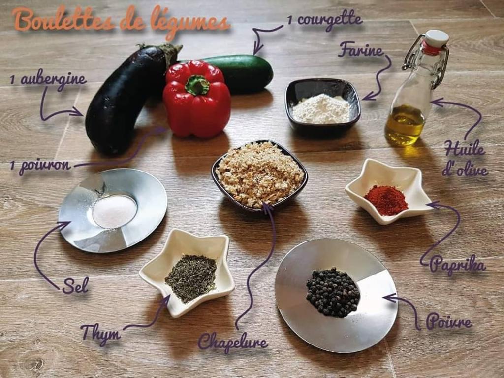 Recette boulettes de légumes ingredients