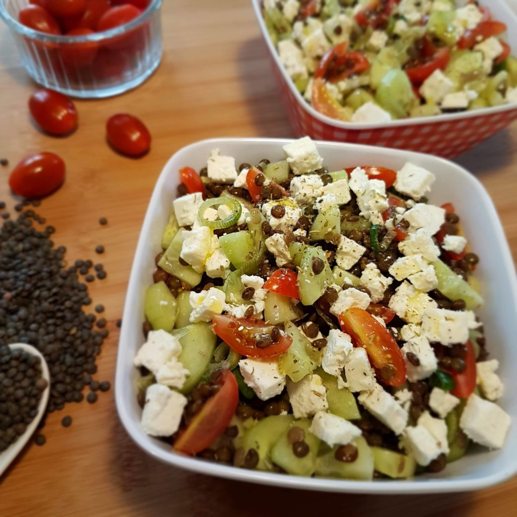 Salade de lentilles et feta