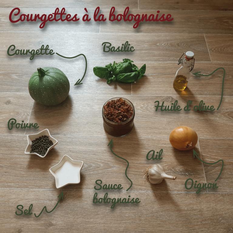 Ingrédients courgette a la bolognaise