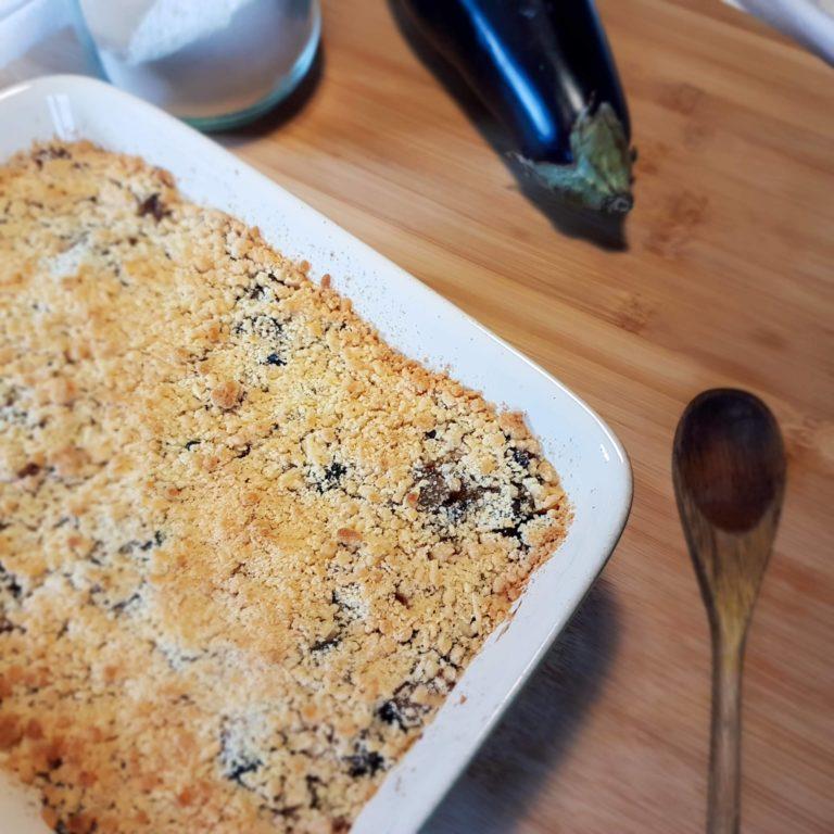 Recette crumble aubergine
