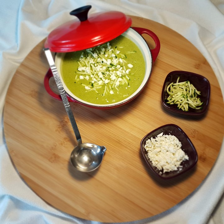 Recette soupe de courgette et féta