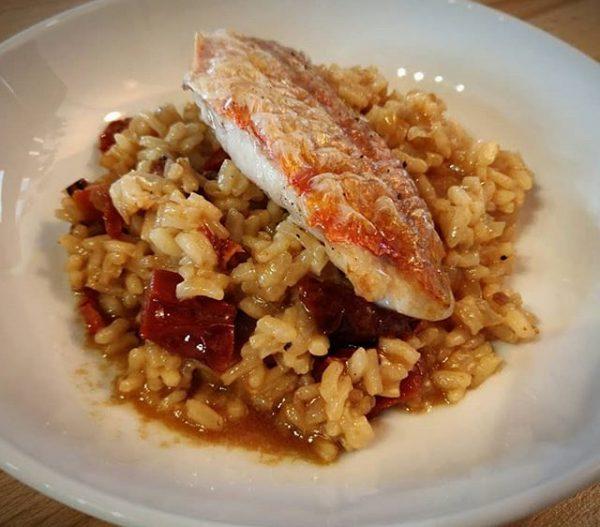 Recette filets de rouget risotto aux tomates séchées